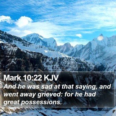 Mark 10:22 KJV Bible Verse Image