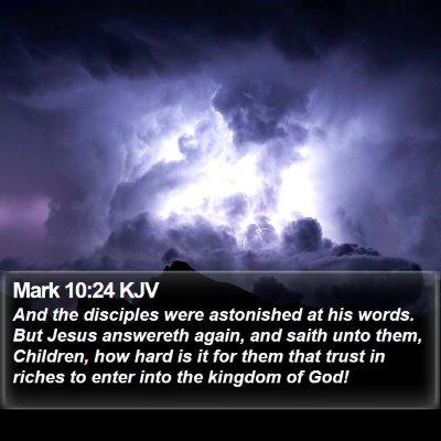 Mark 10:24 KJV Bible Verse Image