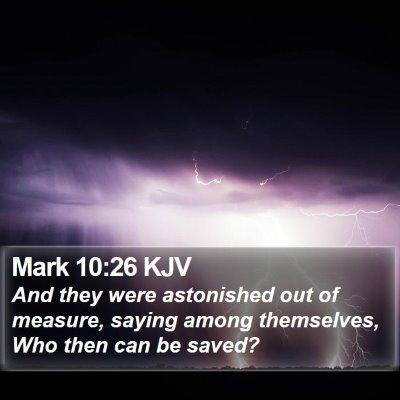 Mark 10:26 KJV Bible Verse Image