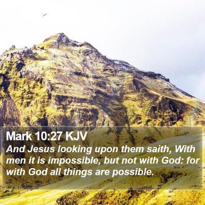 Mark 10:27 KJV Bible Verse Image