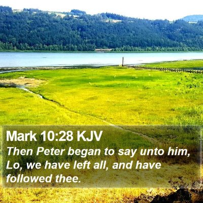 Mark 10:28 KJV Bible Verse Image