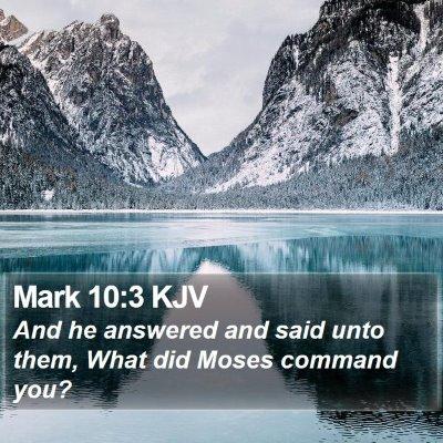 Mark 10:3 KJV Bible Verse Image