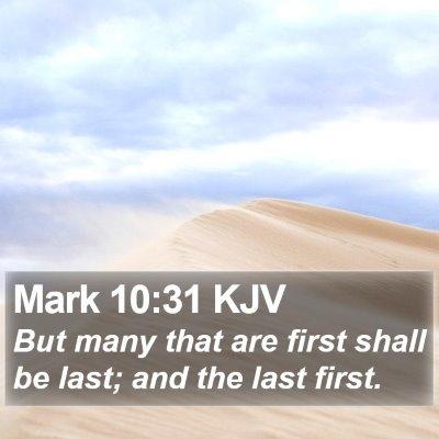 Mark 10:31 KJV Bible Verse Image