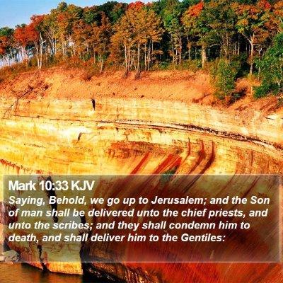 Mark 10:33 KJV Bible Verse Image