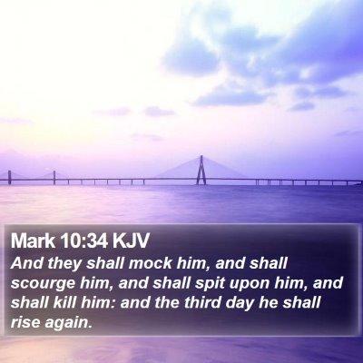 Mark 10:34 KJV Bible Verse Image