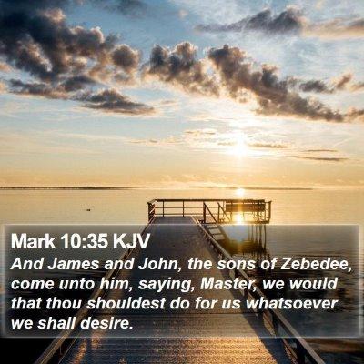 Mark 10:35 KJV Bible Verse Image