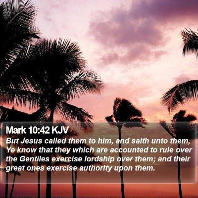Mark 10:42 KJV Bible Verse Image