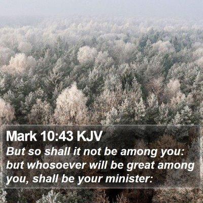 Mark 10:43 KJV Bible Verse Image