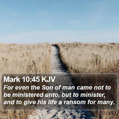Mark 10:45 KJV Bible Verse Image