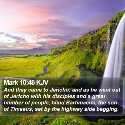 Mark 10:46 KJV Bible Verse Image