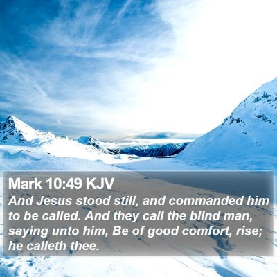 Mark 10:49 KJV Bible Verse Image