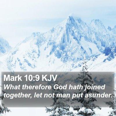 Mark 10:9 KJV Bible Verse Image