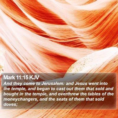 Mark 11:15 KJV Bible Verse Image