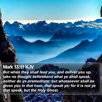 Mark 13:11 KJV Bible Verse Image