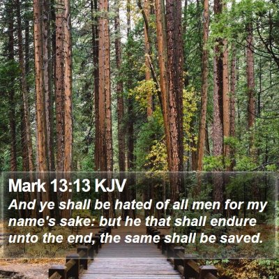 Mark 13:13 KJV Bible Verse Image