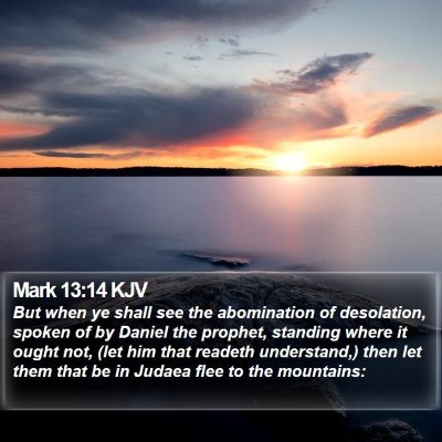 Mark 13:14 KJV Bible Verse Image