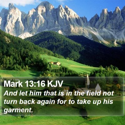 Mark 13:16 KJV Bible Verse Image