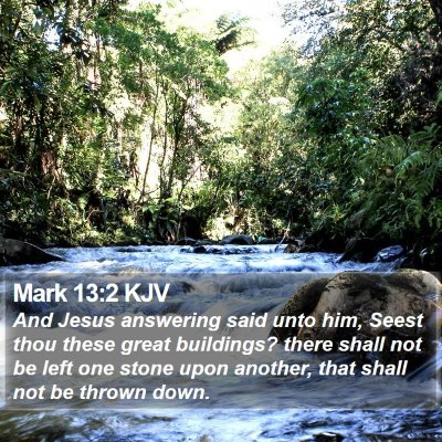 Mark 13:2 KJV Bible Verse Image