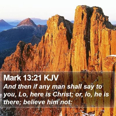 Mark 13:21 KJV Bible Verse Image