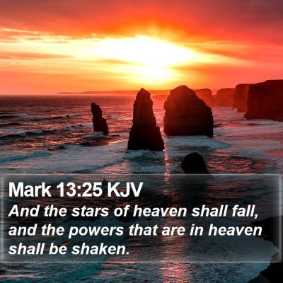 Mark 13:25 KJV Bible Verse Image