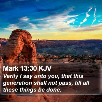 Mark 13:30 KJV Bible Verse Image