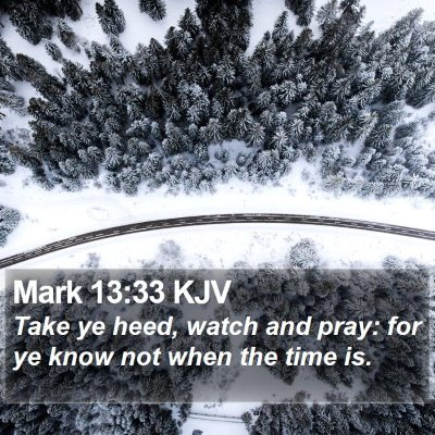 Mark 13:33 KJV Bible Verse Image