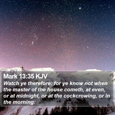 Mark 13:35 KJV Bible Verse Image