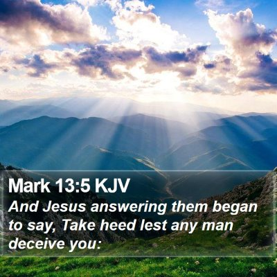 Mark 13:5 KJV Bible Verse Image