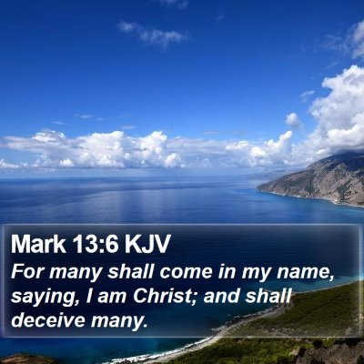 Mark 13:6 KJV Bible Verse Image