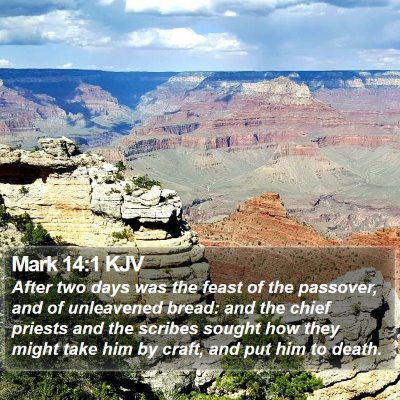 Mark 14:1 KJV Bible Verse Image