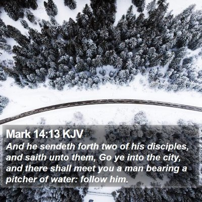 Mark 14:13 KJV Bible Verse Image