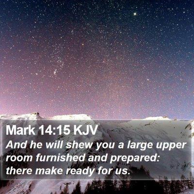 Mark 14:15 KJV Bible Verse Image