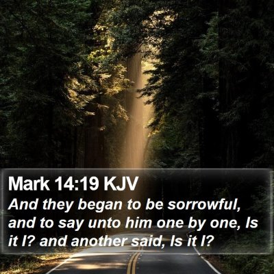 Mark 14:19 KJV Bible Verse Image