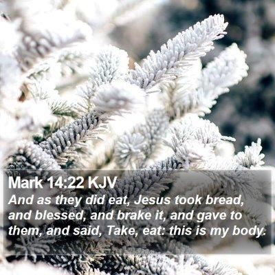Mark 14:22 KJV Bible Verse Image