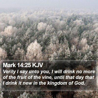 Mark 14:25 KJV Bible Verse Image