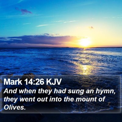 Mark 14:26 KJV Bible Verse Image