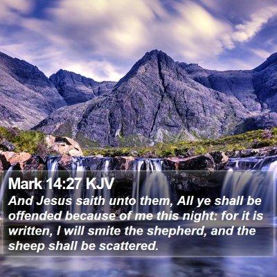 Mark 14:27 KJV Bible Verse Image