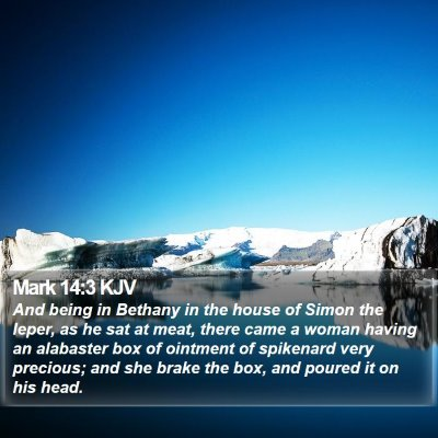 Mark 14:3 KJV Bible Verse Image