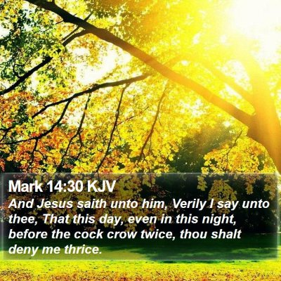 Mark 14:30 KJV Bible Verse Image