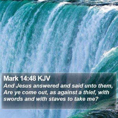 Mark 14:48 KJV Bible Verse Image