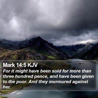 Mark 14:5 KJV Bible Verse Image