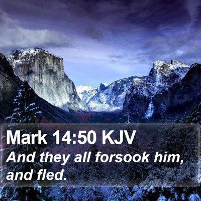 Mark 14:50 KJV Bible Verse Image