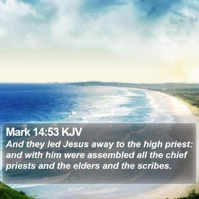 Mark 14:53 KJV Bible Verse Image