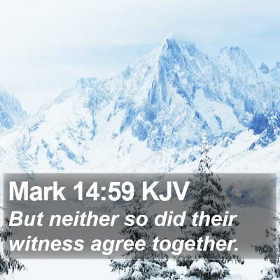 Mark 14:59 KJV Bible Verse Image