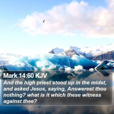 Mark 14:60 KJV Bible Verse Image