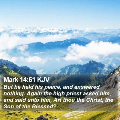 Mark 14:61 KJV Bible Verse Image
