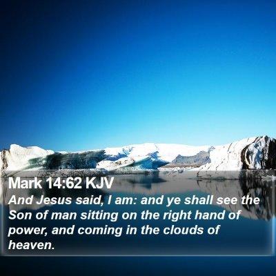 Mark 14:62 KJV Bible Verse Image