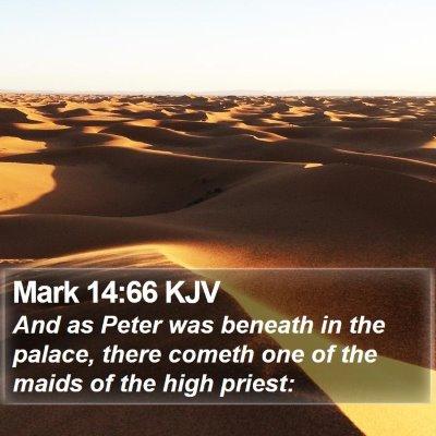 Mark 14:66 KJV Bible Verse Image