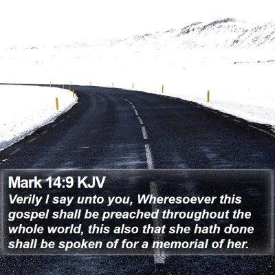 Mark 14:9 KJV Bible Verse Image