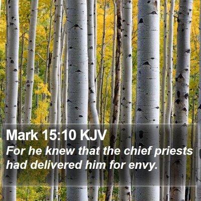 Mark 15:10 KJV Bible Verse Image